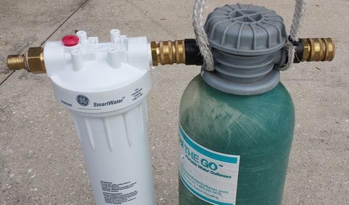 best outdoor water softener